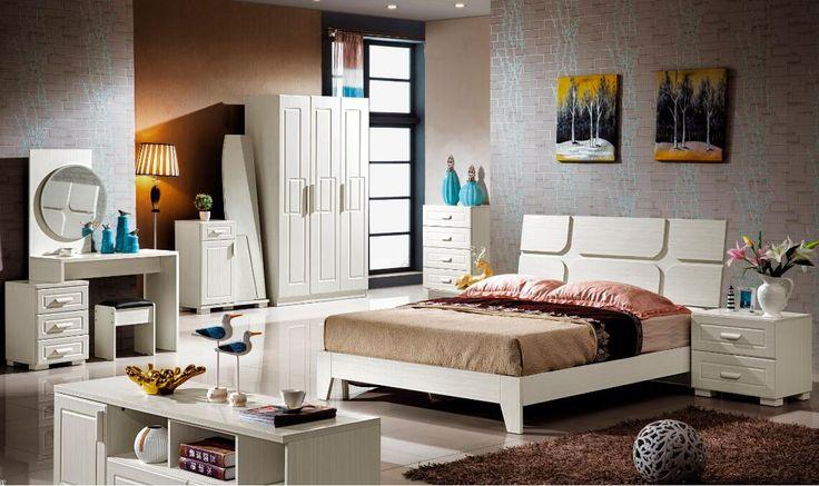 push door wardrobe/bedroom set