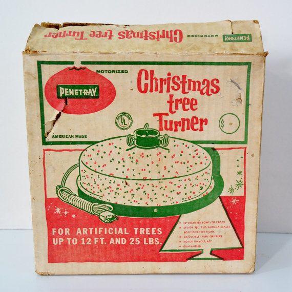 Vintage Christmas Tree Turner Artificial Trees White