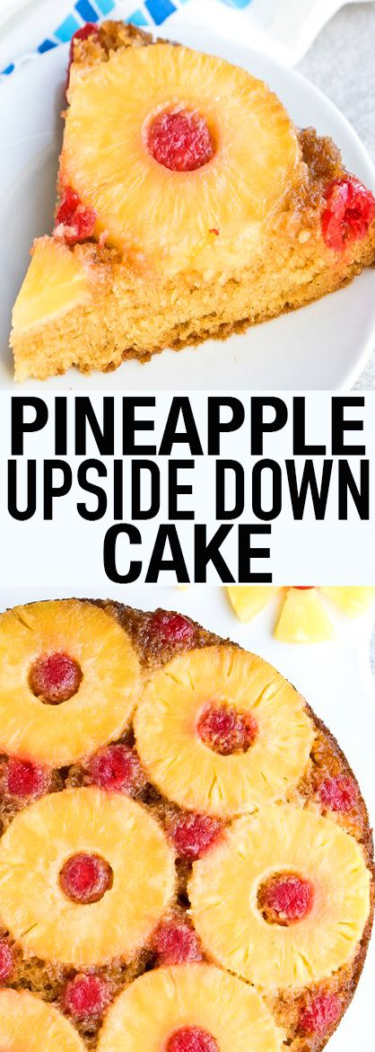 This quick and easy PINEAPPLE UPSIDE DOWN CAKE recipe from scratch is soft and moist and and filled with tropical flavors. This classic cake recipe makes the perfect party dessert. From cakewhiz.com
