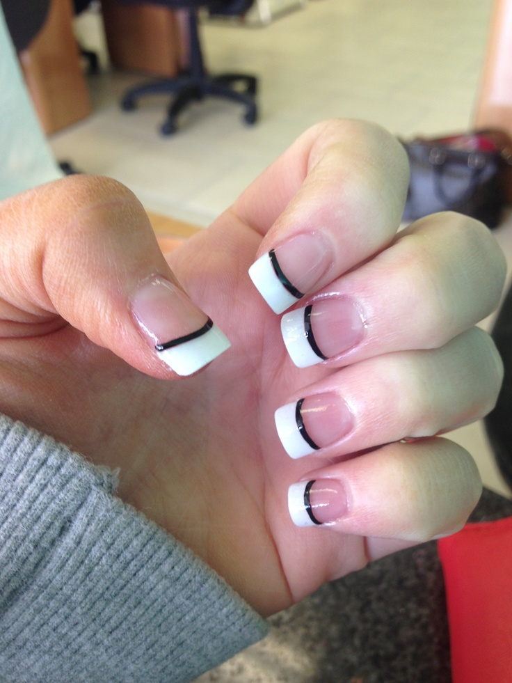Black and white nails :)