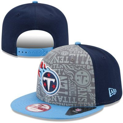 Mens New Era Navy Blue Tennessee Titans 2014 NFL Draft 9FIFTY Snapback Hat