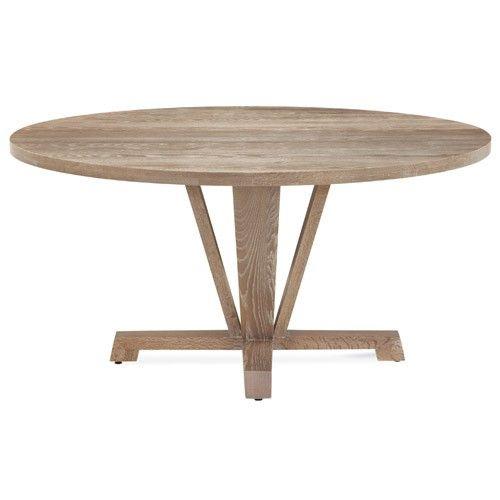 "Boylston Round Extension Oak Dining Table 48-66"""