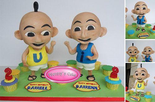 Upin Ipin cake 3D