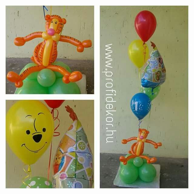 #Happybirthday #balloon #Pooh #tiger