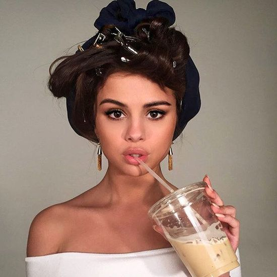 Selena Gomez in Rollers For Pantene Photo Shoot