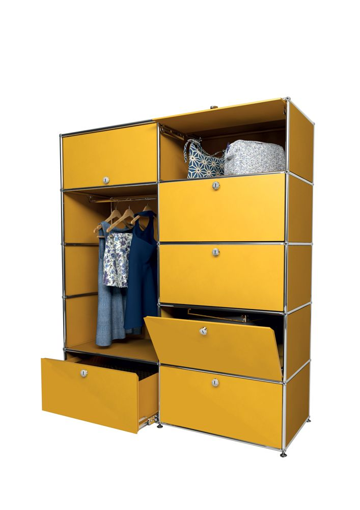 Usm Modular Furniture Wardrobe Yellow Meuble Usm Haller