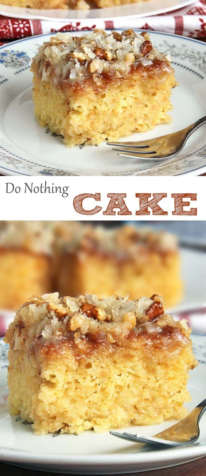 This cake is not only made from scratch but so ridiculously easy to make! ....