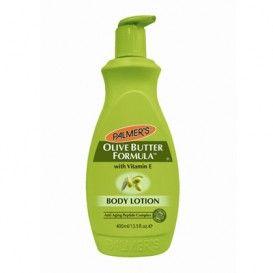 Lotiune pentru mamici Palmer's Olive Butter Formula - pret mic pentru calitate garantata!  Lotiunea hidrateaza pielea si o mentine tanara, ajutand la realizarea de colagen pentru cresterea fermitatii si elasticitatii.  Fara parabeni.