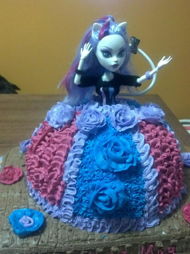 Monster High birthday cake. Made for my grand daughters 6 th birthday. February 12, 2014