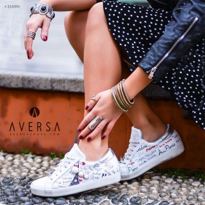 Kammi Sneakers Anthea pelle bianca
