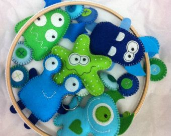 Baby Mobile - Little Monster MADE to ORDER