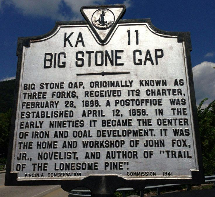 My hometown. Historical Marker in Big Stone Gap, VA