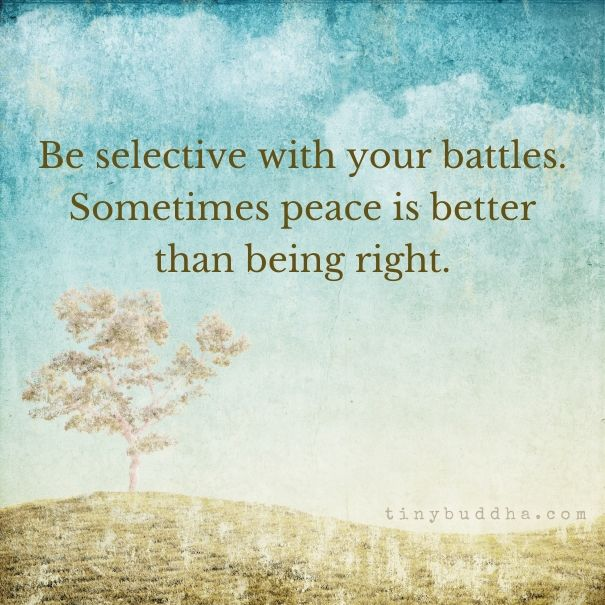 Peace is better than being right
