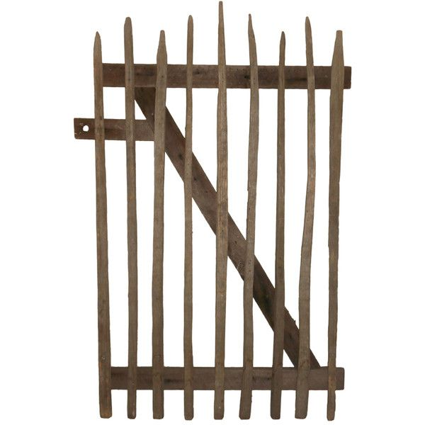 See this and similar outdoors - For Sale on 1stdibs - Primitive garden gate was crafted from hand-hewn wooden stakes mounted on z-frame backing. Beautifully wea...