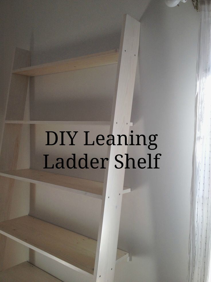 Tutorial for how to make this beautiful white washed ladder shelf