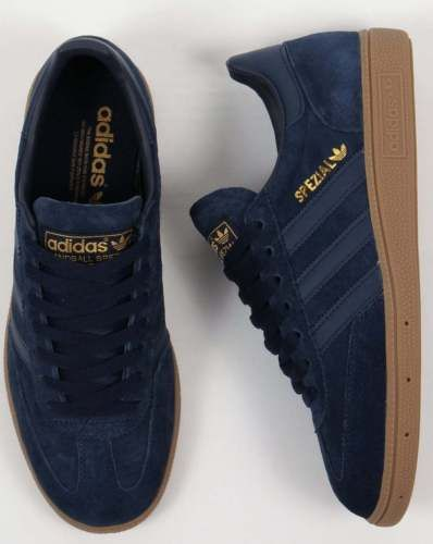 Adidas Originals - Adidas Spezial Trainers in Navy & Gum Sole - 80s casual | Trainers | Men's Shoes - Zeppy.io