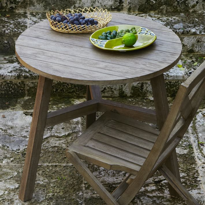 outdoor furniture west elm. from west elm made of fsccertified tropical wood the jardine bistro table is just outdoor furniture