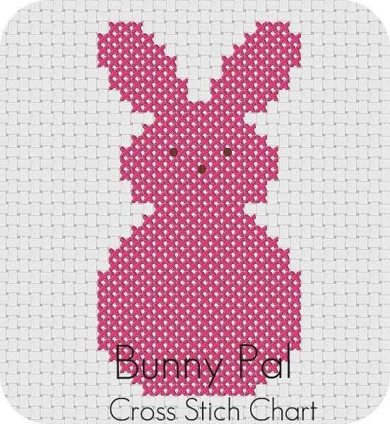 Free Bunny Pal Cross Stitch Chart  by sara ~~ thesplitstitch, via Flickr