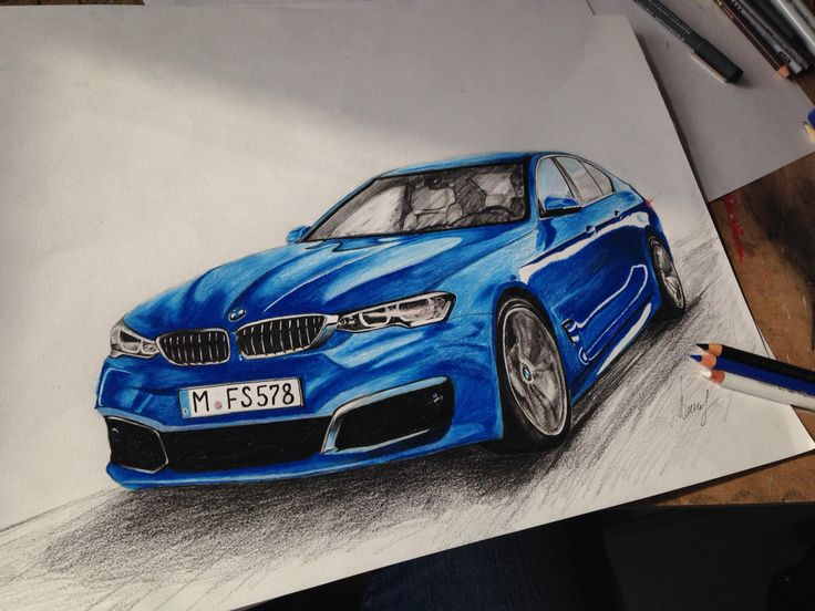 BMW 5-series Pencildrawing