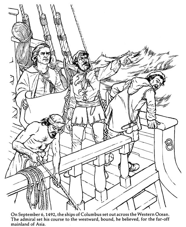 christopher columbus 1 Coloring pages Pinterest | Coloring ...