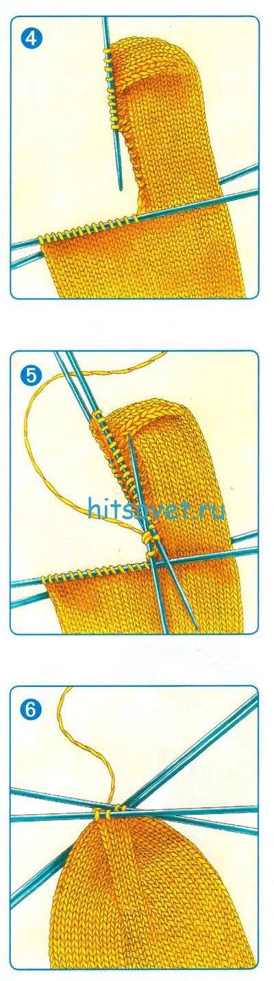 Вязание носков с прямой пяткой