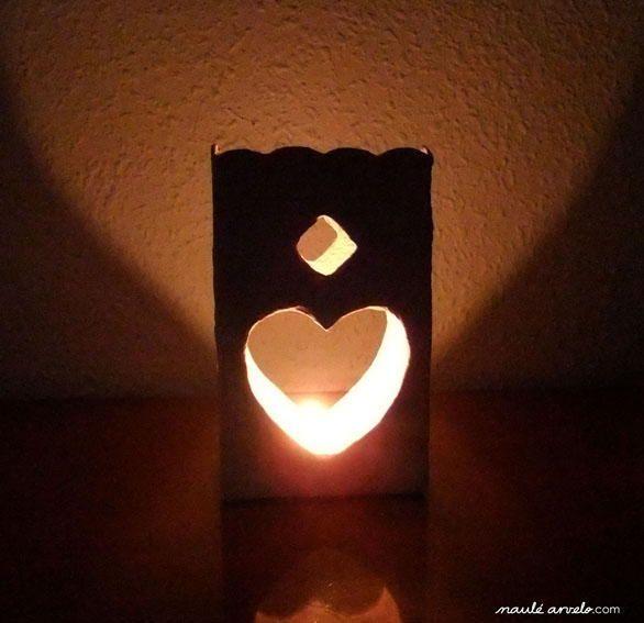 Farolillo con Tetra Bricks . . . and an idea for cut-paper lighting