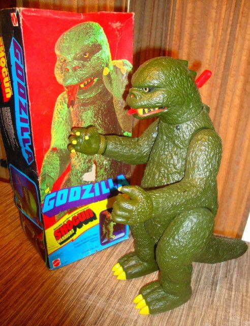 Godzilla. I still have my sons,minus shooting arm.