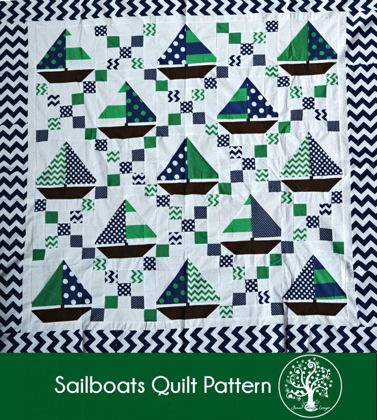 sailboats quilt tutorial - irish chain and sailboat blocks