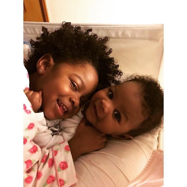 """""""A #sister is a gift to the #heart, a friend to the spirit, a golden thread to the meaning of life."""" Sibling love is so sweet @kampind#FrobabiesOverEverything #FroBabies #nipples #babyfood #healthyfood #organic  #breastfeeding #breastmilk  #Melanin #Motherhood  #blackgirlmagic #goddess #princess #afro #curls #breastfedbaby #cancersucks  #mommyhood  #naturalhair  #LOVE #happy #family  #cute #black #smile #parenthood #mommylife #momsofinstagram"""