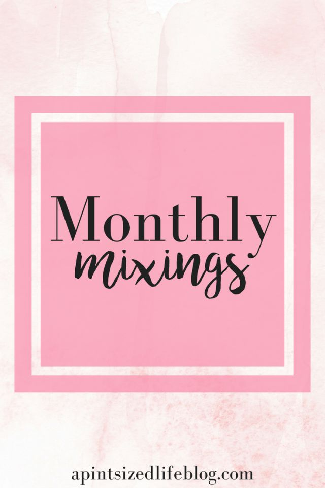Monthly mixings Pinterest graphic