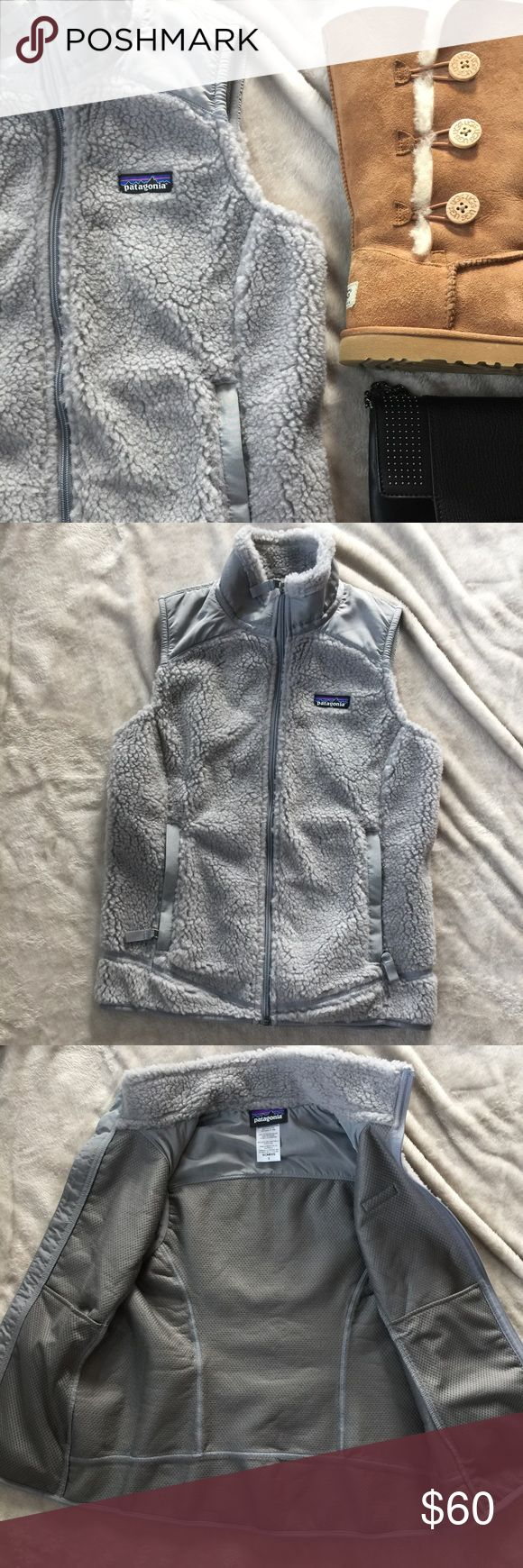 Grey Patagonia Fleece Vest Excellent condition grey fleece Patagonia vest. Never Worn! No holes, tears or stains! Zippers all work great! Women's size small. Patagonia Jackets & Coats Vests
