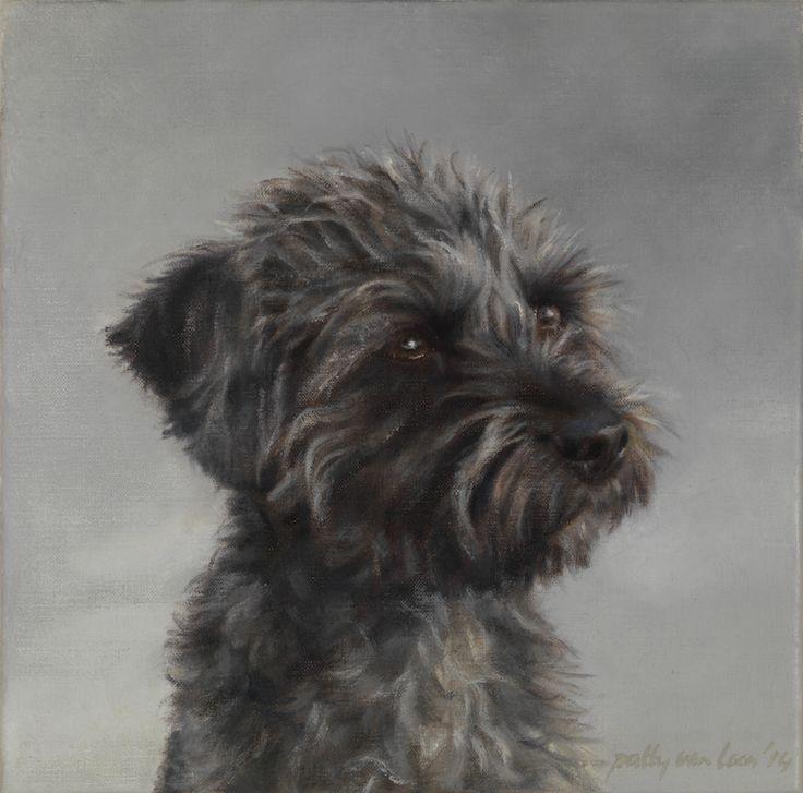 Harrie, oil on canvas, 30 x 30 cm by Patty van Loon, www.pattyvanloon.nl