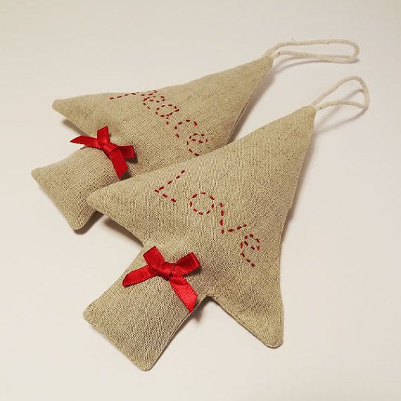 Peace and Love Christmas Tree Lavender Sachets