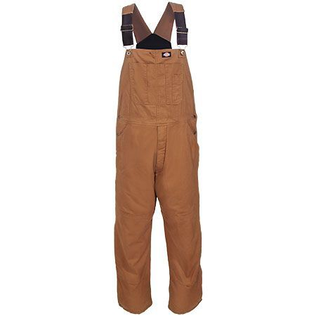Dickies Men's TB244 RBD Brown Sanded Duck Insulated Bib Overalls