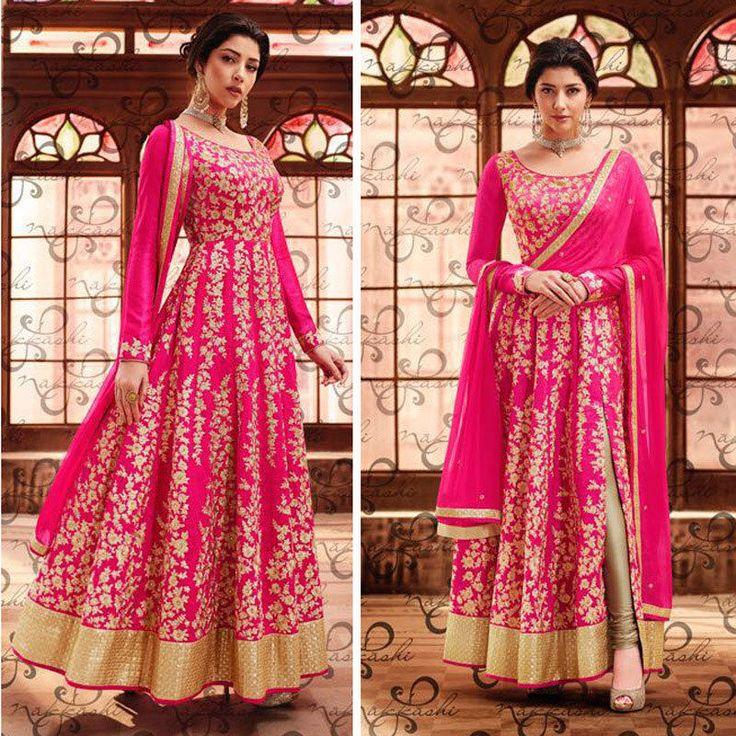 Bollywood Anarkali Indian Pakistani Wedding Dress For Womens Designer Party Suit #Handmade #Anarkali