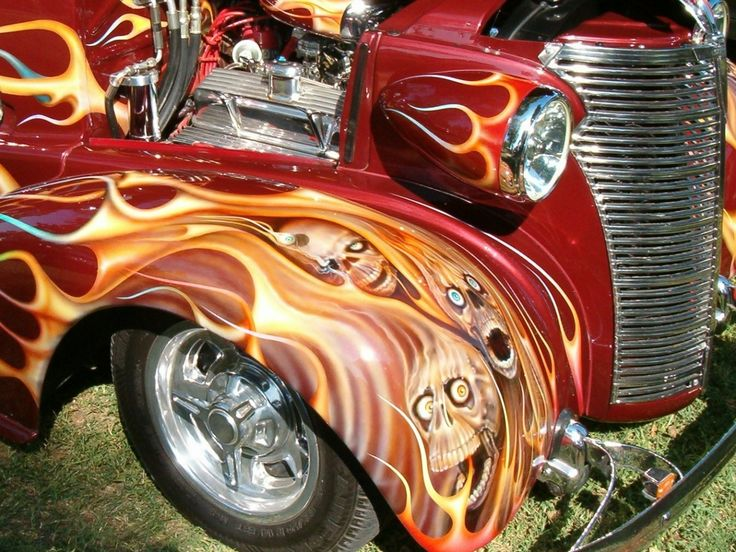 Best Custom Car Paint Jobs Images On Pinterest Custom Cars - Custom vinyl decals for rc carsimages of cars painted with flames true fire flames on rc car