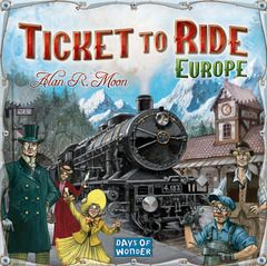 The #TTR everyone loves, moves to Europe and adds new mechanics including tunnels, ferries and train stations. Easy to play even if you have never played the original Ticket to Ride, this is a stand alone game. 2-5 players, ages 8 and up. Plays in about 1 hour. #traingames