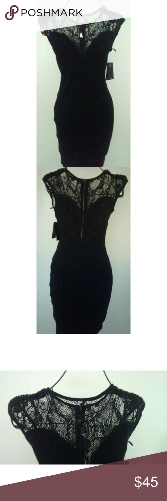 Guess dress nwt Beautiful top stretchy Guess Dresses