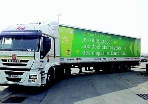 Comme quinze autres enseignes Carrefour de la région, Aire-sur-la-Lys teste les premiers camions roulant au biométhane carburant. Ce sont les biodéchets produits par les hypermarchés comme les fruits, légumes abîmés, les pâtisseries, les déchets végétaux