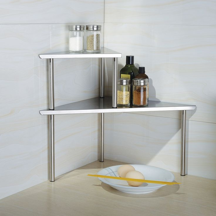 Shop Wayfair for Cook N Home 2 Piece Stainless Steel Corner Storage Shelf Set - Great Deals on all Kitchen & Dining products with the best selection to choose from!