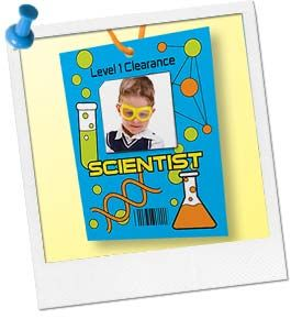 Science Party Ideas | Science Party Activity | Safety Clearance Badges at Birthday in a Box