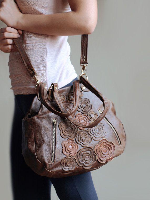 Brown kožená taška dámske úrad kabelka, kabelky, koža Balíkové, laptop taška, každodenné taška, ručné remeslá, jarná móda, deň matiek darček