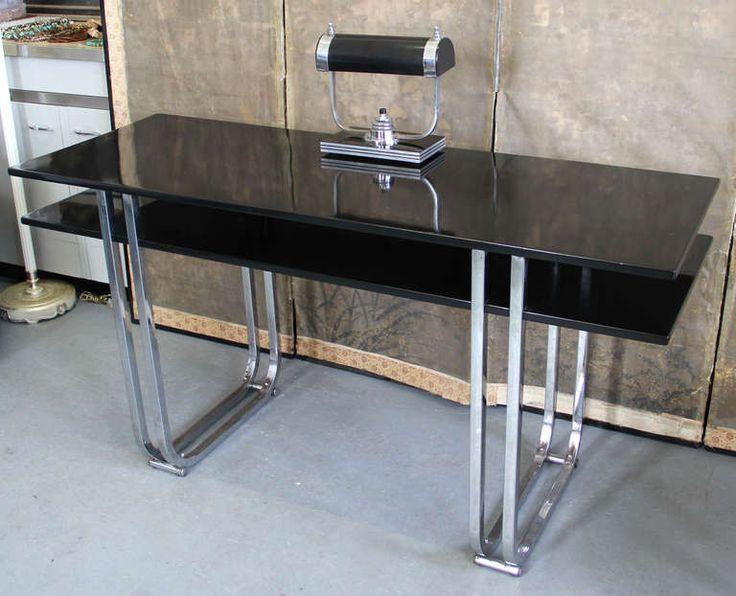 art deco furniture miami. art deco machine age modern deskey style chrome and lacquer writing desk furnituremiami furniture miami