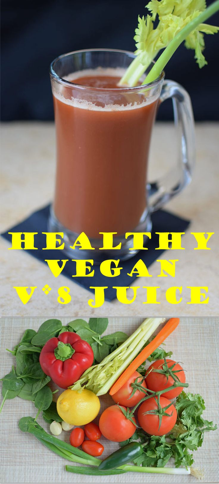Healthy Vegan V8 Juice - Better than store bought. Much less sodium. And organic ingredients