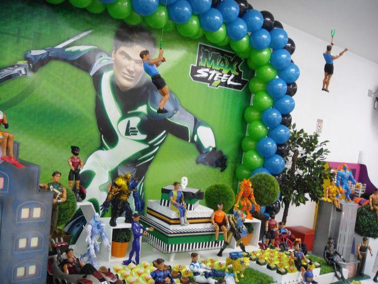 Faça Festa... festejando e realizando sonhos com você!!: Festa do Max Steel