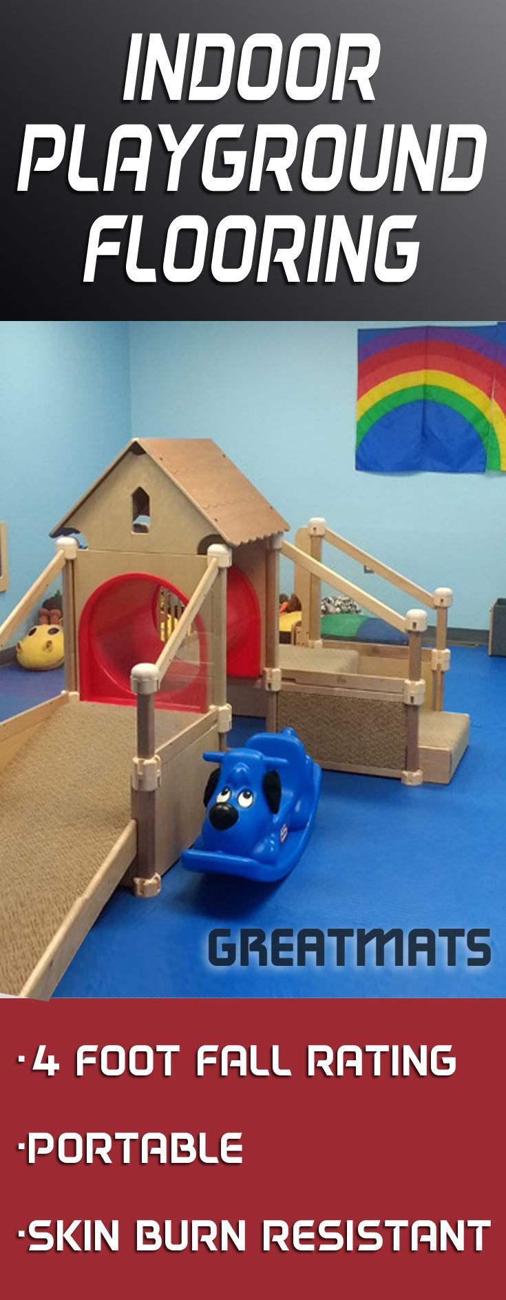 Best 25 playground flooring ideas on pinterest backyard want fall protection for your indoor playground check out what this indoor playground flooring is dailygadgetfo Images