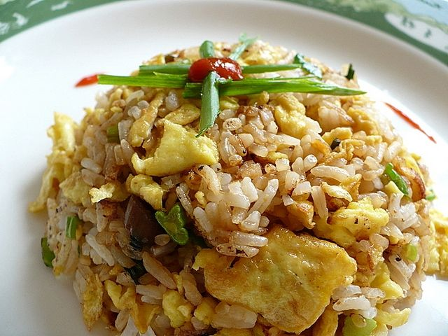 Classic Chinese fried rice with egg