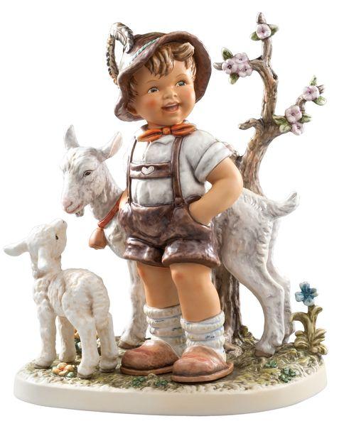 Hummel Ziegenbub Little Boy Figurine