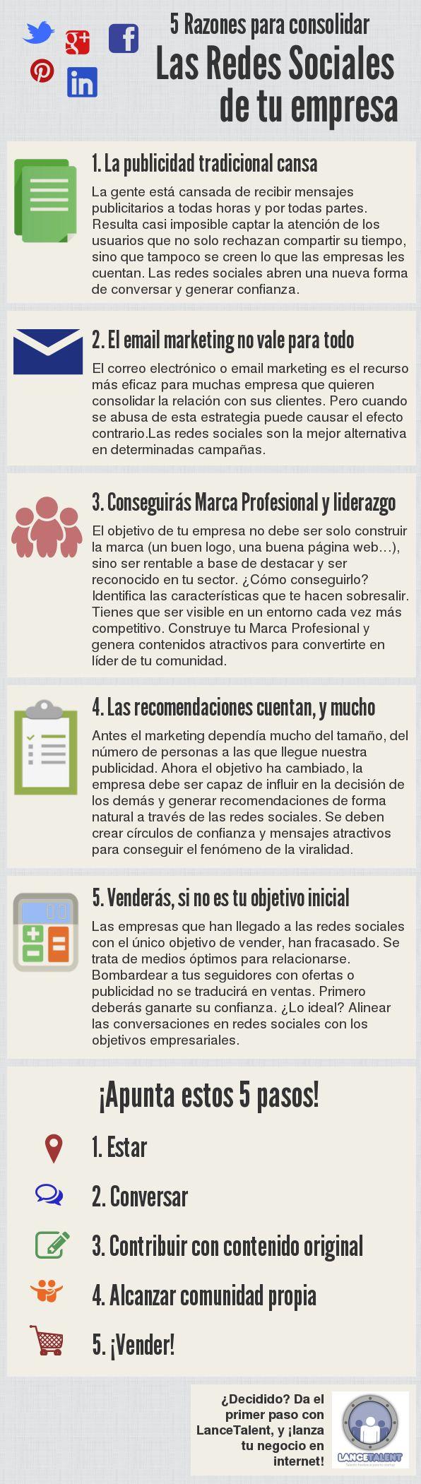 infografias redes sociales empresa