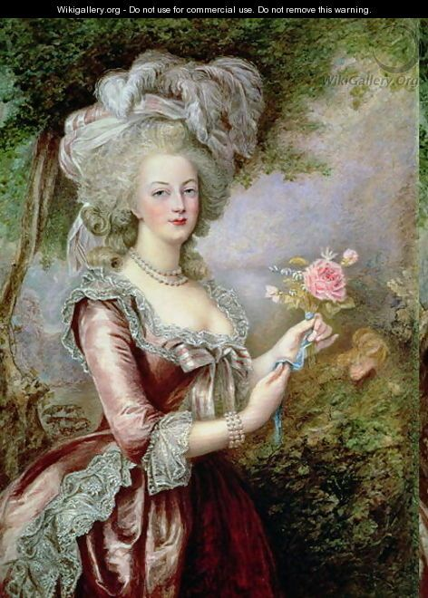 A portrait of Marie Antoinette by Louise Campbell Clay, after Vigee-Lebrun